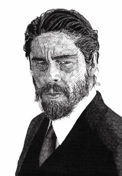 Detailed Celebrity Portraits Created with a Pen Katie Hosmer, mymodernmet.com Benicio Del ToroAll artist Rik Reimert needs to create these detailed illustrations is some paper and some ink. The rest is a series of lines and hashmarks that Reimert builds, from light to dark, with Rotring Rapidographs—a variety of…