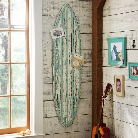 alohabeachblonde:  Rustic Surfboard Wall Decor | PBteen on We Heart It. http://weheartit.com/entry/34077117/via/effie_curlyhead