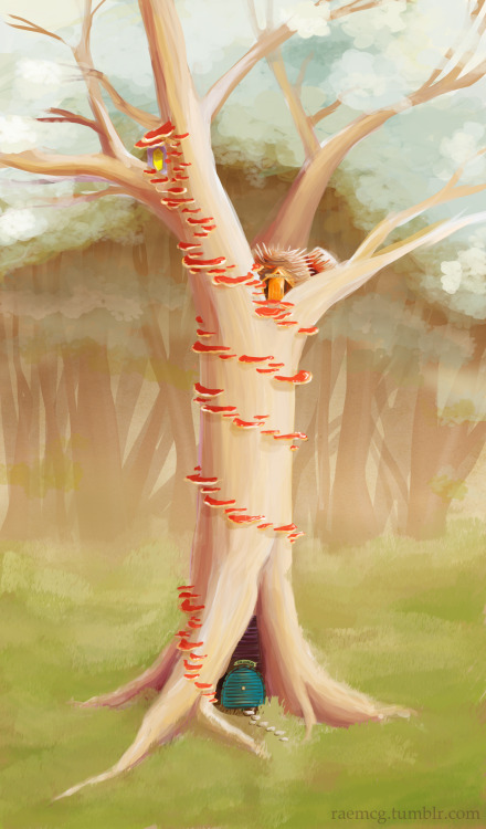 raemcg:  Shroom-steps for bitty tree houses.