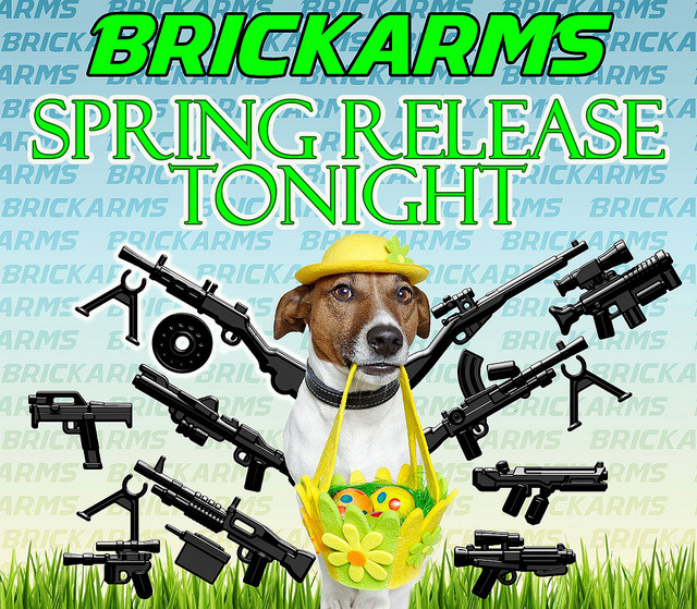 Brickarms Spring Release Tonight! on Flickr.Not only will we have the new weapons tonight at midnight EST, we're offering 20% off all Brickarms with coupon code SPRING13 to celebrate!