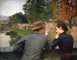 beforethisnight:  Émile Friant - Les Amoureux (1888) aka The Lovers