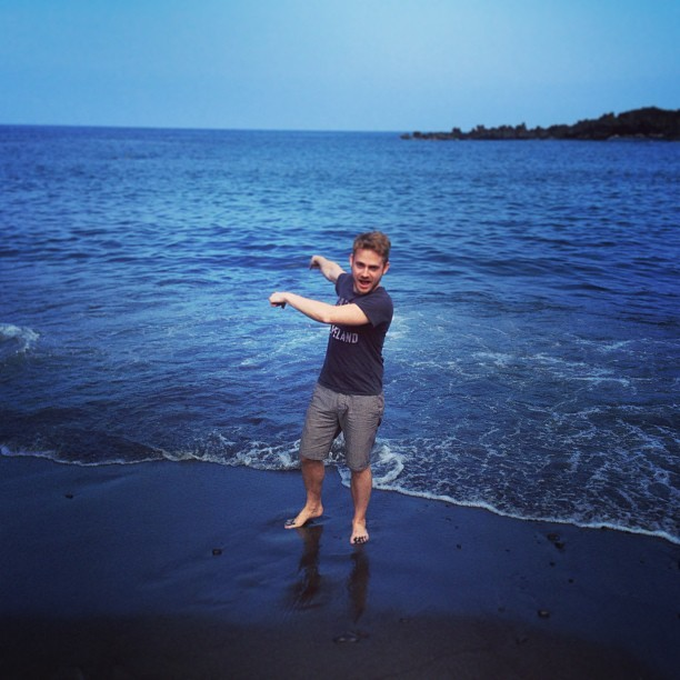 BLACK SAND BEACH!!! Cross one off the bucket list… #blacksandbeach #amazing #itreallyexists #sopretty #hana #upcountry #black #sand #beach (at Black Sand Beach)