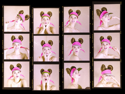 What About the Girls - Contact Sheets A perfect set. It was so hard to choose!  Photography: Christian Alegria Styling/Direction: Me Make-up: Yen Voang Hair: Yoshitaka Miyazaki Model: Danielle@EliteModels Hats: Noel Stewart