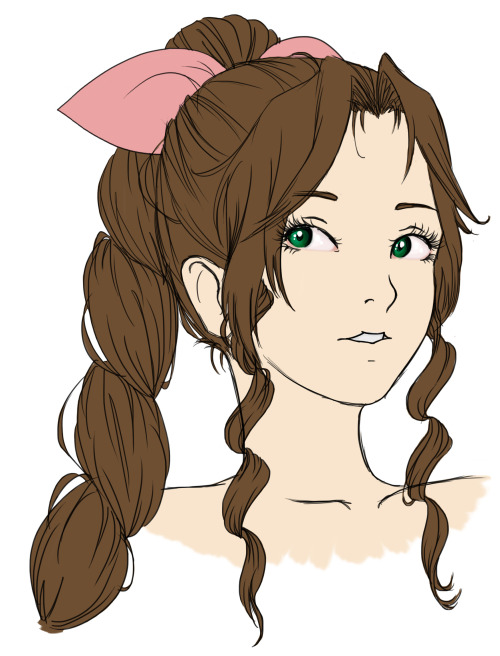 FINAL FANTASY Aerith is my all-time favourite, but I also looooove Selphie, Zidane, Yuna,   Balthier… and so many more like wow I can't list them all I love everyone Anyway it's now uh…4:30am so I'm going to bed but I'll finish this one tomorrow because aaauuughhh love her too much aaauuuuuuuugggghhhhhhh LOOK AT THOSE EYES HNNGG