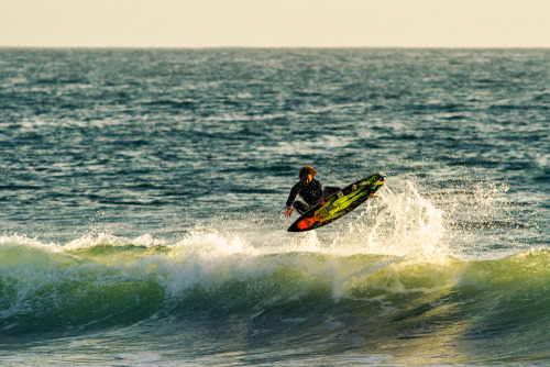 Scotty Stopnik on his new 5'7″ Rambo model. photo: Drew Martin