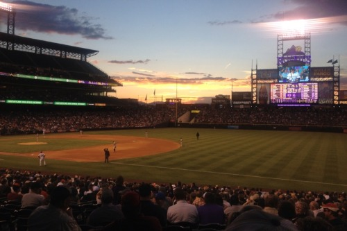 The Colorado Rockies vs. the San Francisco Giants, 5.17.13