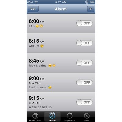 Forgot about these. Til next semester. -__- #alarms #sciencelabproblems