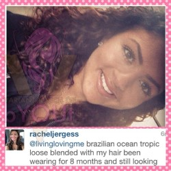 The lovely @racheljergess has been rockin her #varianttouchofbyout #brazilian #oceantropicloose tresses for 8 months and counting #byoutiful #teamvtbyout #virginhair #hair #weave #goodhair #goodweave #vtbyoutarmy #vtbyoutangel #brazilian #malaysian #peruvian #mongolian #indian