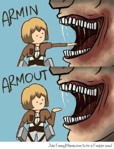 catburglareloina:  I had to share hahaha!  Armin's a little bellend.