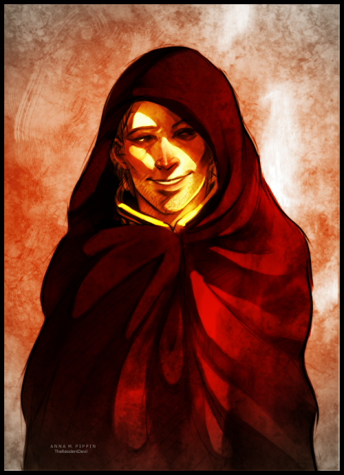 theresidentdevil:  Anders with a cold all wrapped up in a blanket and awaiting attention? I'll take fifty.