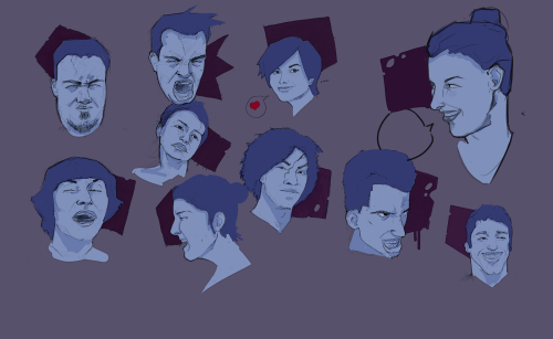 some face sketches to kick off the new year.