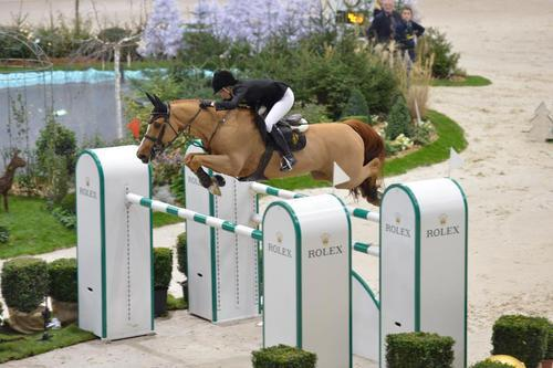equestrian-athlete:  CONGRATULATIONS to Edwina Tops-Alexander (AUS), riding her fantastic little chestnut gelding Cevo Itot Chateau (Le Tot de Semilly x Galoubet A x Cor de Chasse x Rantzau) to win the World Cup Qualifier in Geneva, Switzerland!