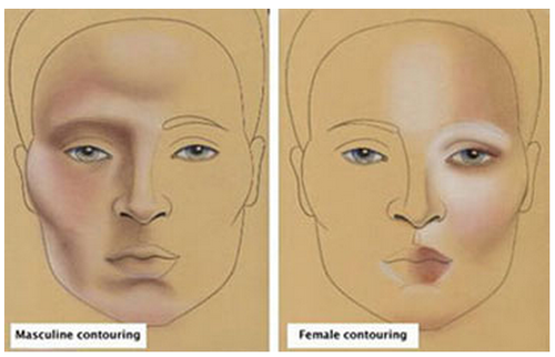 tordles:  becoming-a-drag-queen:  How to contour and highlight your face! Here is an image I found on where natural highlights are on men and women, a perfect reference for beginning drag kings and queens like me.   guys this is a lifesaver for cosplay! espECIALLY if you're doing troll/painted up cosplay and want to blend to make your features actually stand out no matter what gender the character you're cosplaying is