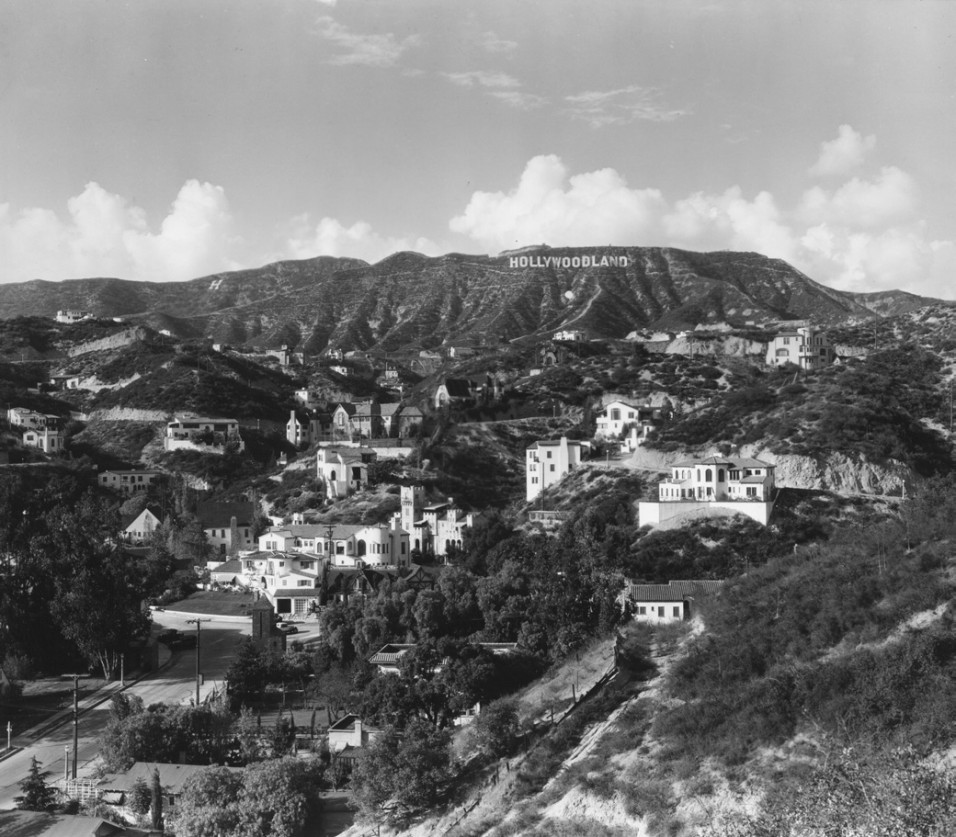 Residences in the hills of Hollywoodland, Los Angeles