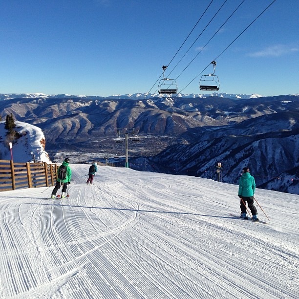 Good morning from a bluebird morning at Aspen Highlands.