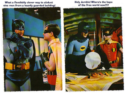 Batman postcards (1966)