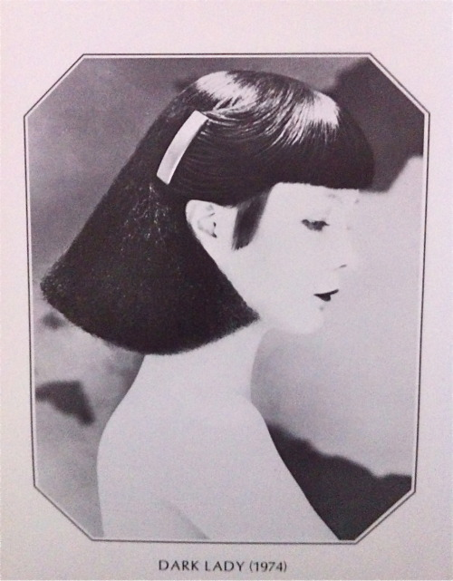 """Dark Lady"", 1974 Hairstyle by Vidal Sassoon"