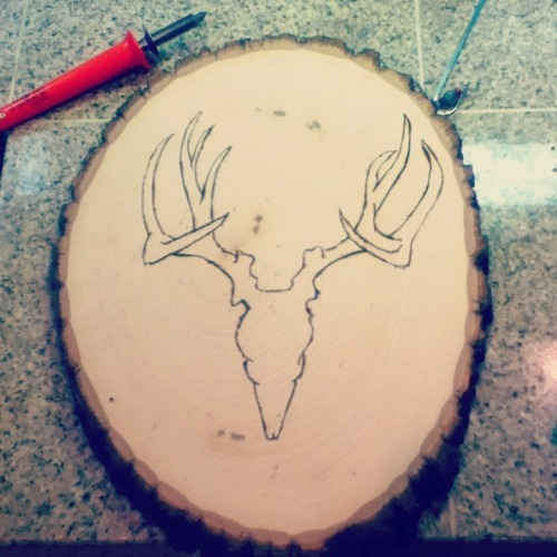Work in progress, I'm rusty at wood burning.