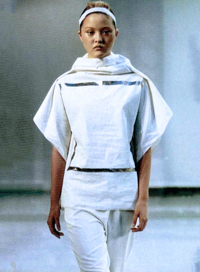 kireishi:  Devon Aoki, on the runway for Trace by Koji Tatsuno S/S 1999