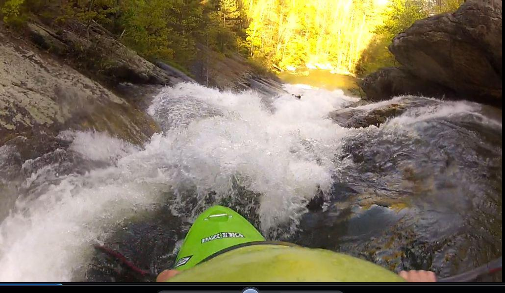 Dr. Gameday drops blind into Wintergreen Falls on NC's Toxaway River.