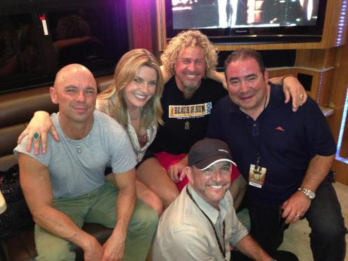 Sammy Hagarb4 show last night @kennychesney @gracepotter @Emeril LouisMessina… played 55, finish whatcha started&rock candy!