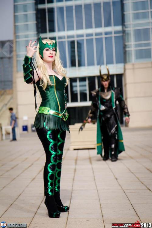 A teaser image of Loki and his Enchantress.Better watch what you say, cause my man is on his way!