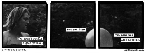 softerworld:  A Softer World: 972 (no one could steer me right, but mama tried.) buy this print