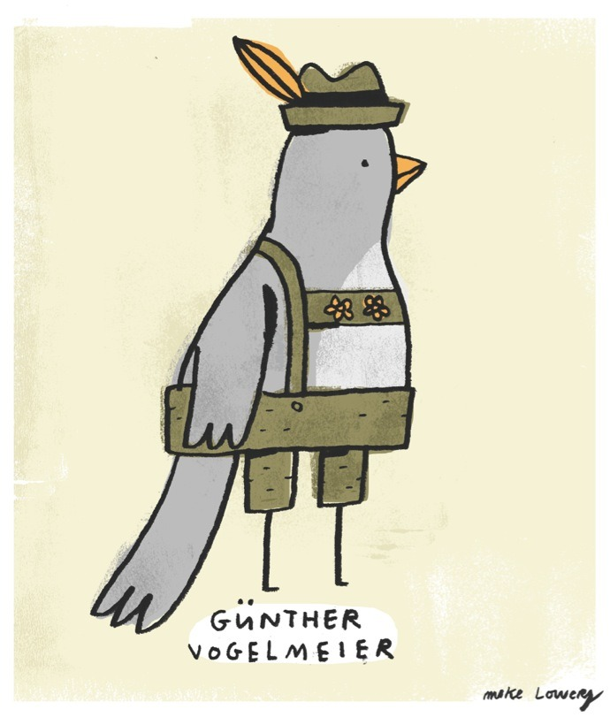 mikelowerystudio:  a little german bird.