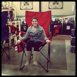 I don't think its big enough! #campingchair #holdssixbeers #plusacoolerontheside #bigenough  (at D&B Supply)