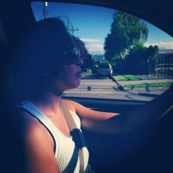 @flotoro and her super serious driving face.