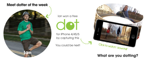 Say hi to our second Dotter of the Week, Ian. Check out the winning video here: http://goo.gl/N9LoQ