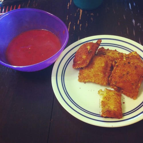 Fried ravioli! #yum