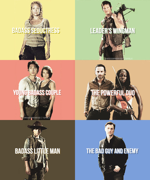 vanessaparadise:  The Walking Dead characters meme → season 3