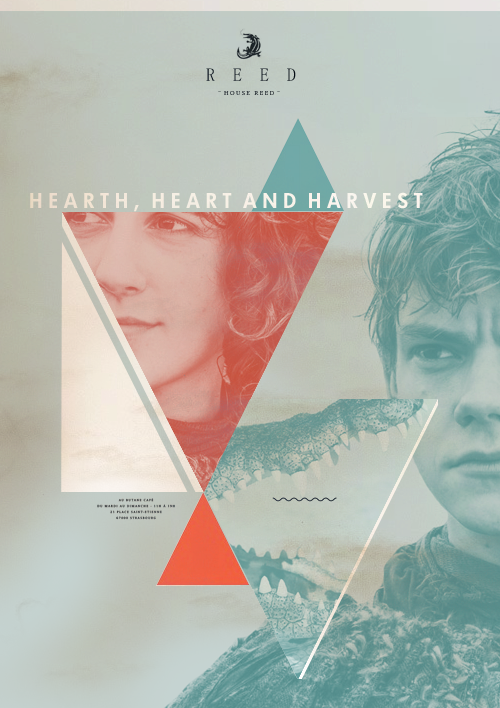 "To Winterfell we pledge the faith of Greywater. Hearth and heart and harvest we yield up to you, my lord. Our swords and spears and arrows are yours to command. Grant mercy to our weak, help to our helpless, and justice to all, and we shall never fail you. I swear it by earth and water. I swear it by bronze and iron. ""We swear it by ice and fire."""