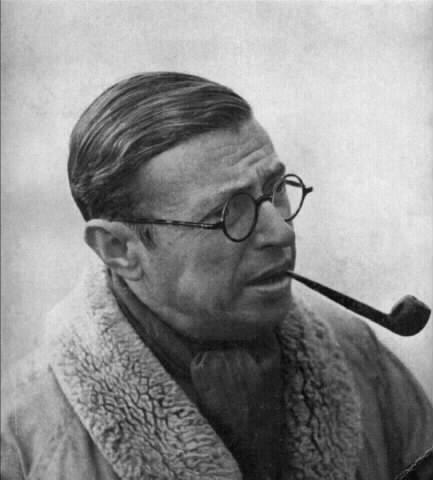 reasonotheneed:  Jean Paul Sartre - big pipe, big collar, big deal.
