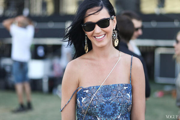 Katy Perry - Talk about a free spirit—#Coachella street style at its best with @katyperry in @HELM