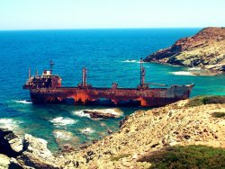 shipwreck |  aegean sea | andros island | greece