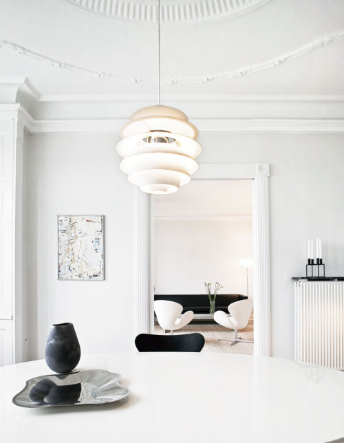 justthedesign:  Danish Interiors, Dining Room, Annett Dupont And Peter Kristiansens Apartment Photography By Lars Kaslov