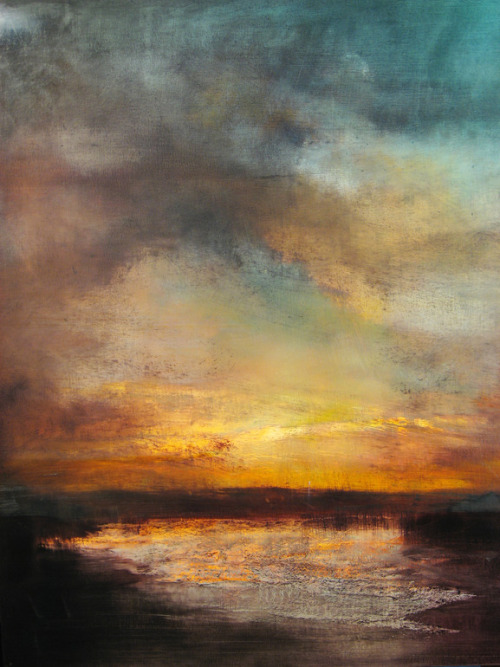 evolutionists:  Maurice Sapiro. Sunset, Reflected.