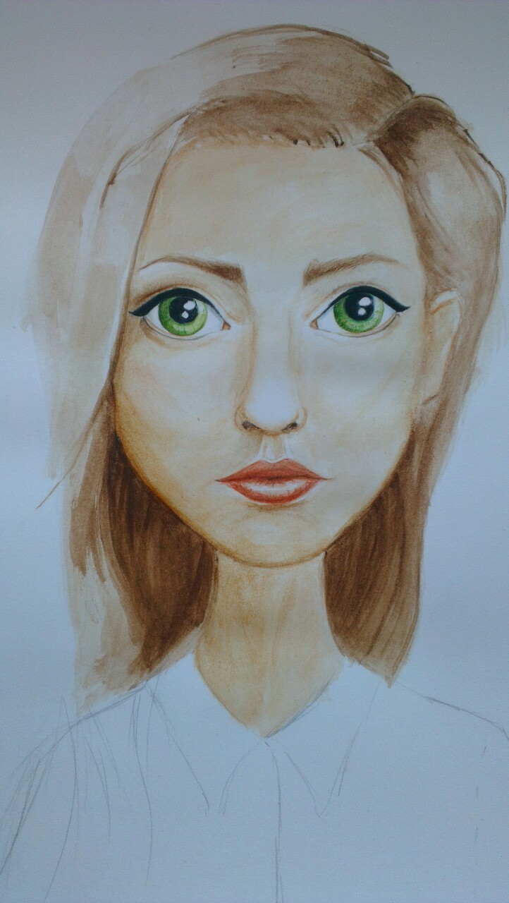 Doodling with the watercolours, absolutely in love with them, trying to figure out how to make somewhat decent looking skin (and also everything else haha)