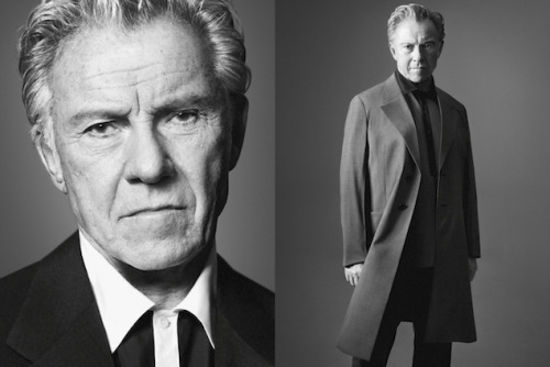gqfashion:  Harvey Keitel, Prada Model