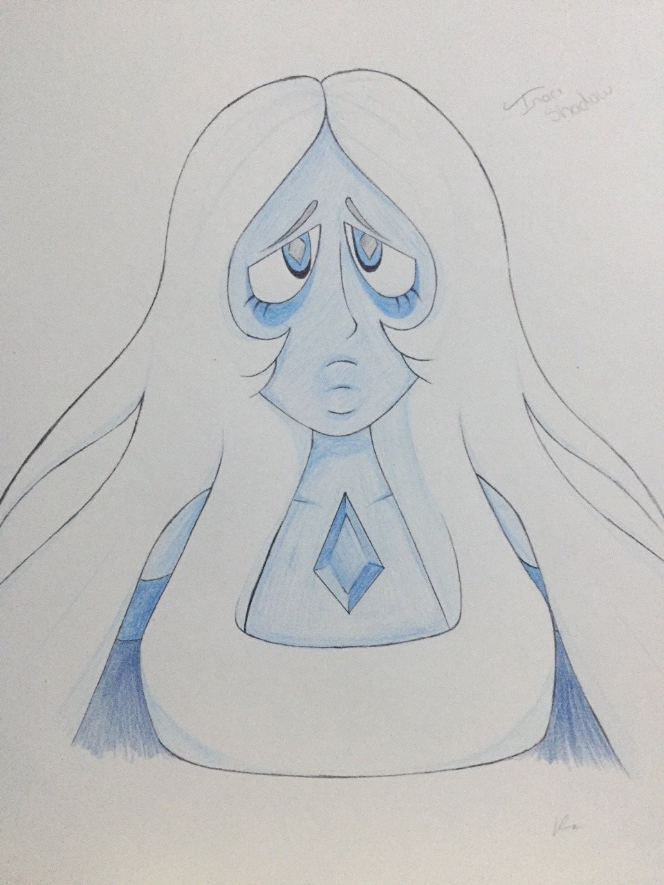 Brother got me a big ol sketchy book for Christmas and thought I'd draw my favourite diamond to start it off :)