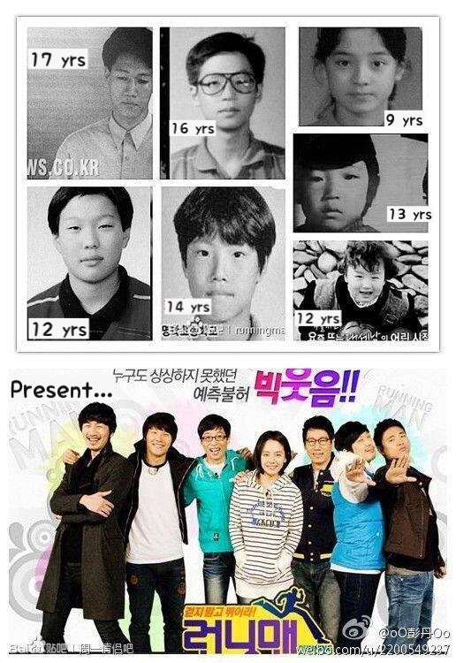 Running man past vs present! Recognise who is who?