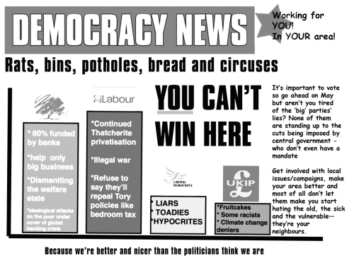 Honest election leaflet