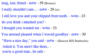 sle4zy:  craigslist missed connections poetry