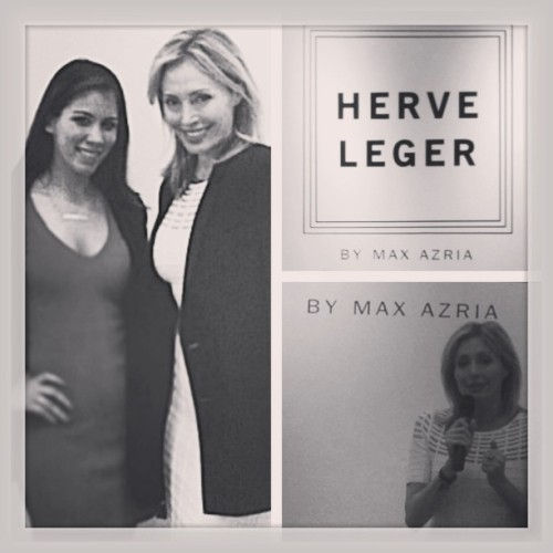 Such a pleasure meeting #LubovAzria today that the @HerveLeger #Spring2013 Collection Showcase #picstitch #fashion #willow #herveleger @bcbgmaxazria #love #loveit