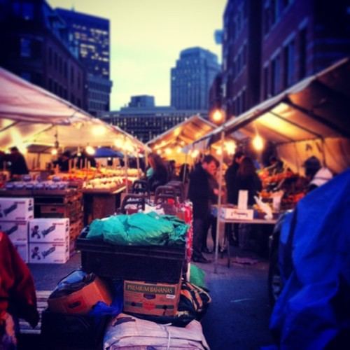 Haymarket on a cold #Boston night. (at Haymarket Square Farmer's Market)