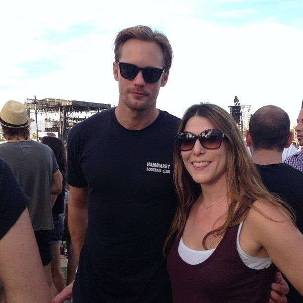 Yup, #truebloood best sighting ever #Alexanderskarsgaard #coachella