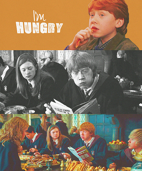 "yoursmileiswhatsavedme:  Some things never change !  ""I'm hungry!"" —Ron Weasley."