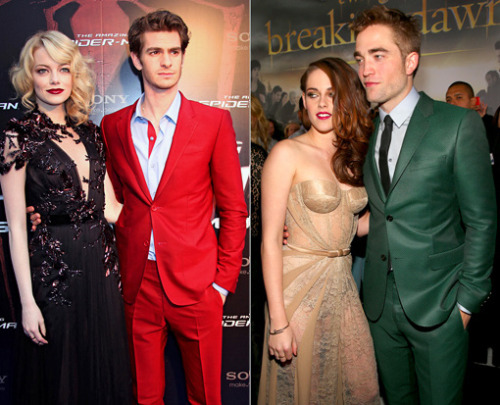 entertainmentweekly:  Robsten vs. Andremma, or whatever Andrew Garfield and Emma Stone's couple name is: Who's the best-dressed pair on the red carpet?